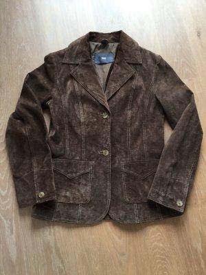 TCM Leather Blazer dark brown-brown
