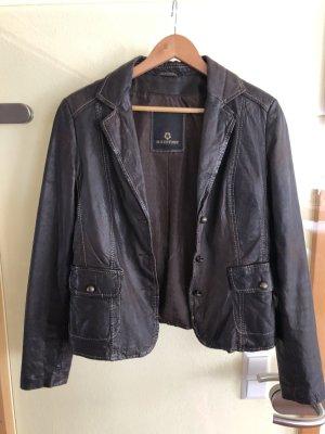 Milestone Leather Blazer dark brown-black brown