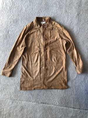 Conleys Leather Blouse camel