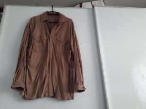 Valentino Leather Blouse sand brown