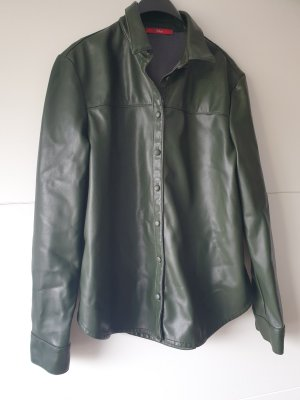 s.Oliver WOMEN Leather Blouse olive green