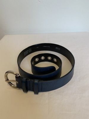 abro Leather Belt blue-silver-colored leather
