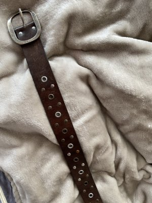Studded Belt dark brown-brown