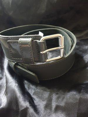 Anne L. Leather Belt grey