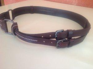 Marc Cain Cinturón de cuero marrón Cuero