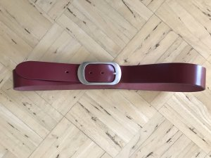 Esprit Leather Belt bordeaux leather