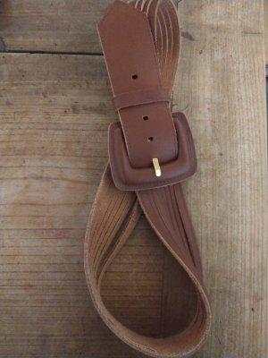 Cintura di pelle marrone-cognac