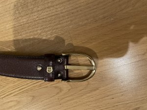Aigner Leather Belt dark brown