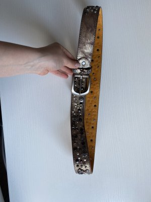 Leather Belt silver-colored-gold-colored