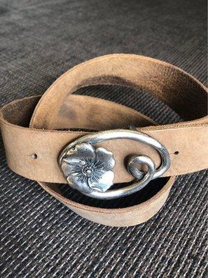 Promod Leather Belt brown