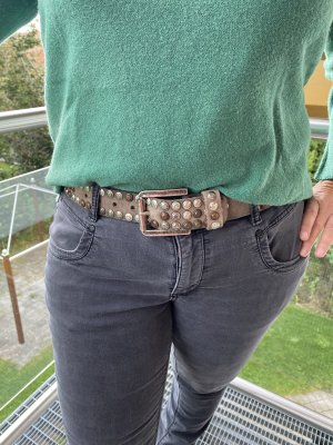 Bernd Götz Leather Belt multicolored