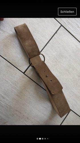 Cecil Cinturón de cuero beige