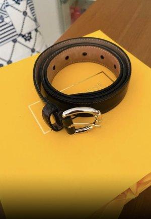 Dolce & Gabbana Cinturón de cuero marrón oscuro