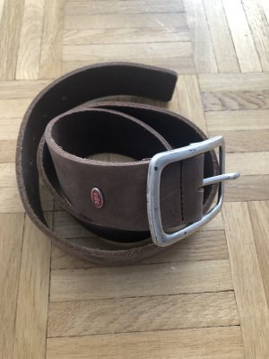 Esprit Leather Belt grey brown
