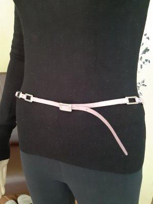 Mango Leather Belt purple