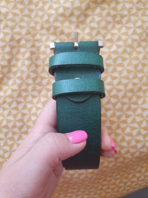 Leather Belt forest green