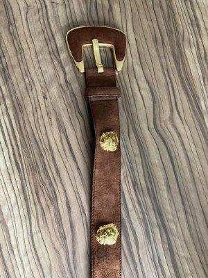Ledergürtel Gürtel von Escada mit goldfarbenen Löwenköpfen