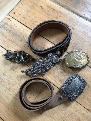 Vintage Cintura di pelle multicolore