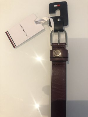 Tommy Hilfiger Leather Belt bordeaux-carmine