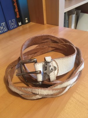 Friis & Company Leather Belt white leather