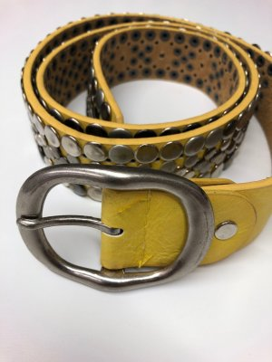 Leather Belt yellow leather