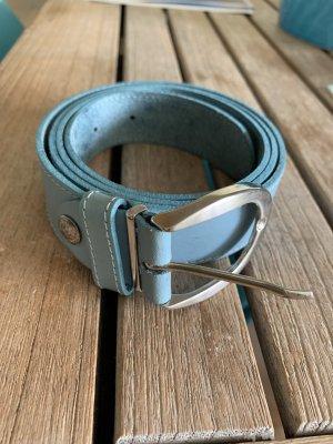 Leather Belt baby blue