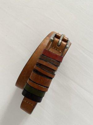 Marc O'Polo Cintura di pelle multicolore