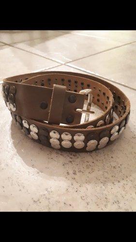 Vanzetti Studded Belt grey brown