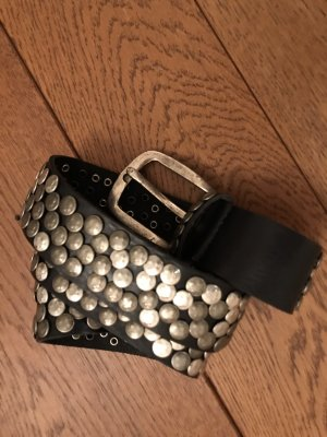Bernd Götz Studded Belt black-silver-colored