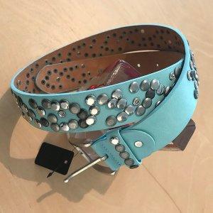 Studded Belt light blue