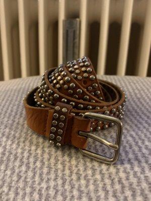 Sam Brown Cinturón de cuero coñac Cuero
