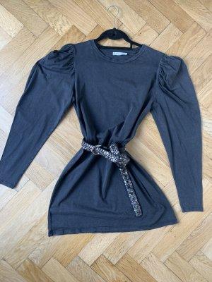 Hallhuber Cintura di pelle nero-argento