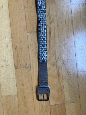 Le Comptoir de la Plage Cinturón de pinchos multicolor Cuero