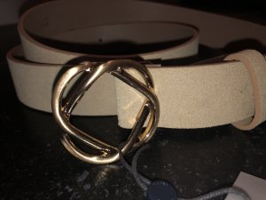 Pieces Leather Belt beige