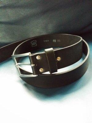 Ledergürtel schwarz 85 cm NEU