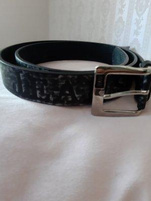 Cintura di pelle bianco-nero Pelle