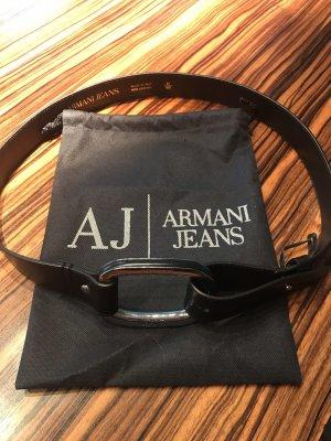 Armani Jeans Ceinture en cuir noir