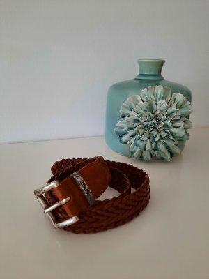 Esprit Cintura di pelle marrone-cognac