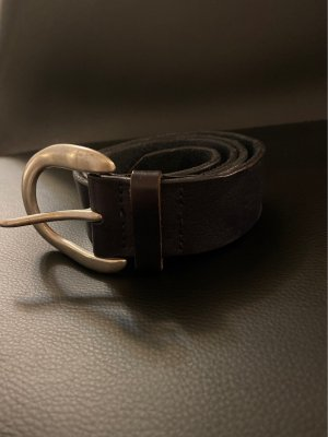 Liebeskind Berlin Leather Belt dark blue leather