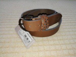 Mustang Cinturón de cuero marrón claro