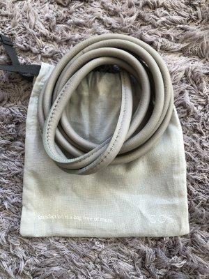 COS Cintura di pelle grigio chiaro