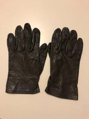 Leather Gloves anthracite-black