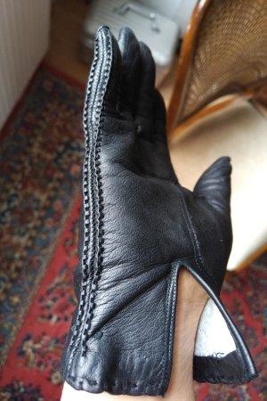 Unbekannte Marke Leather Gloves black