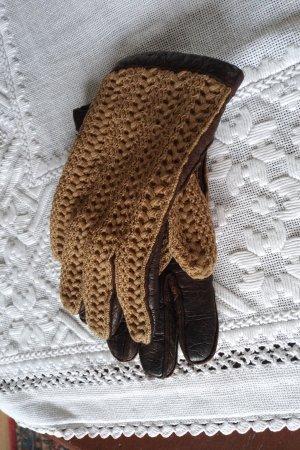 unbekannte Leather Gloves natural white