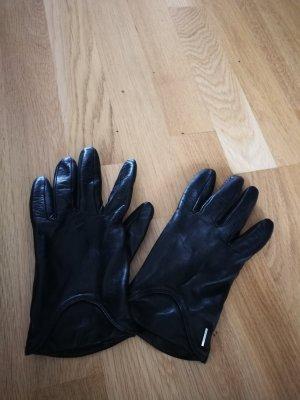 Hugo Boss Leren handschoenen zwart