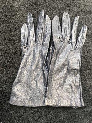 Leather Gloves dark blue