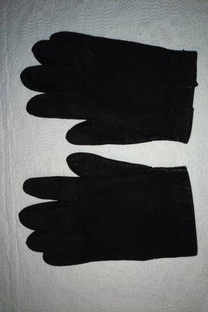 unbekannte Guanto in pelle nero