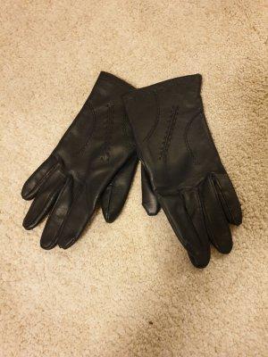 no name Leather Gloves dark blue