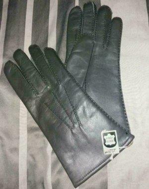 Leren handschoenen antraciet Leer