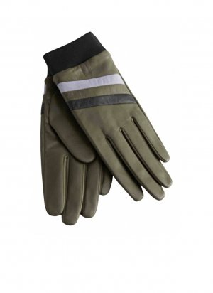 & other stories Leather Gloves khaki-black